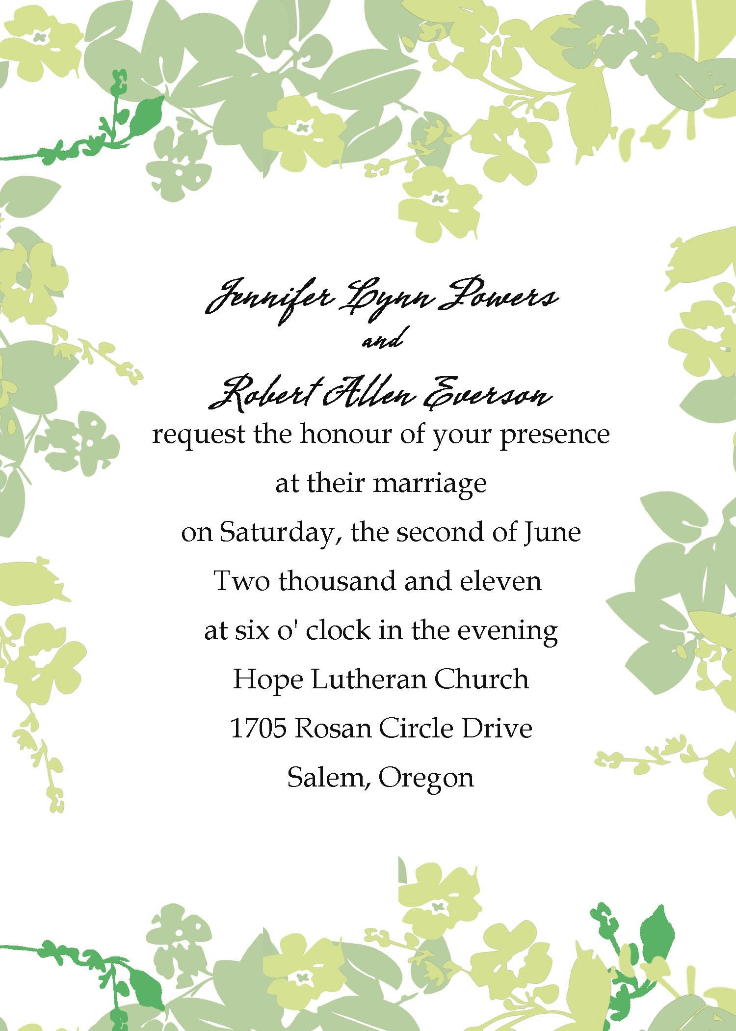 Collection of thousands of free Affordable Wedding Invitation ...