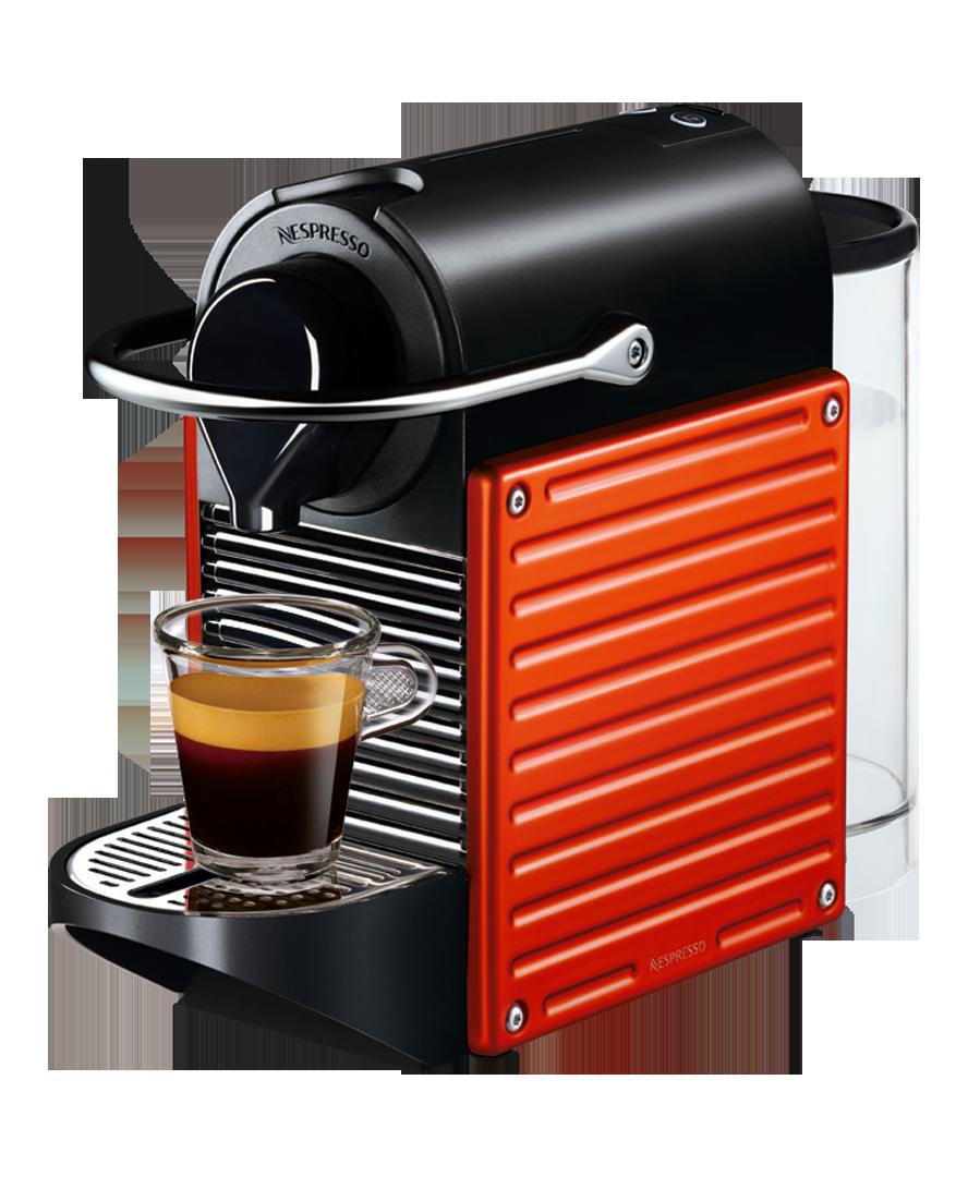Pixie 紅色 Red coffee maker, Espresso maker, Nespresso machine