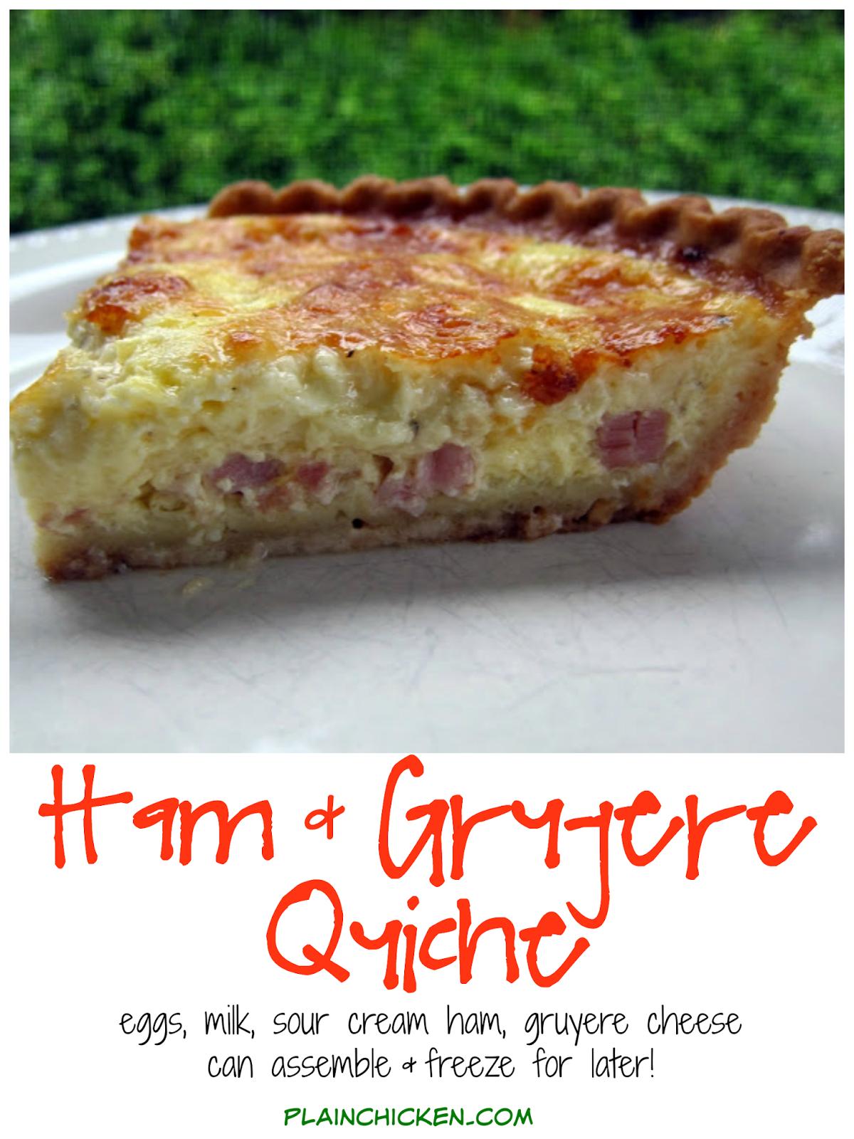 Ham Gruyere Quiche Quiche Recipes Breakfast Brunch Recipes Food