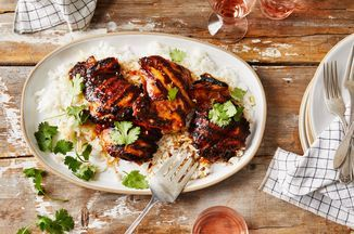 Grilled Chicken Thighs With Lemongrass Glaze Recipe on Food52