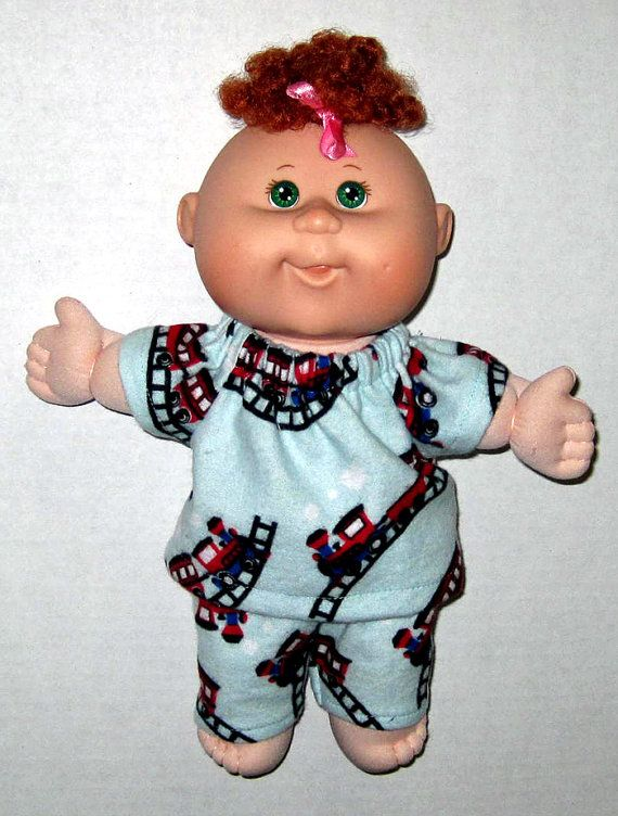 Cabbage Patch Surprise Doll Trains Pajama Set 10 Or 11 Inch Etsy Cabbage Patch Kids Cabbage Patch Dolls Doll Clothes