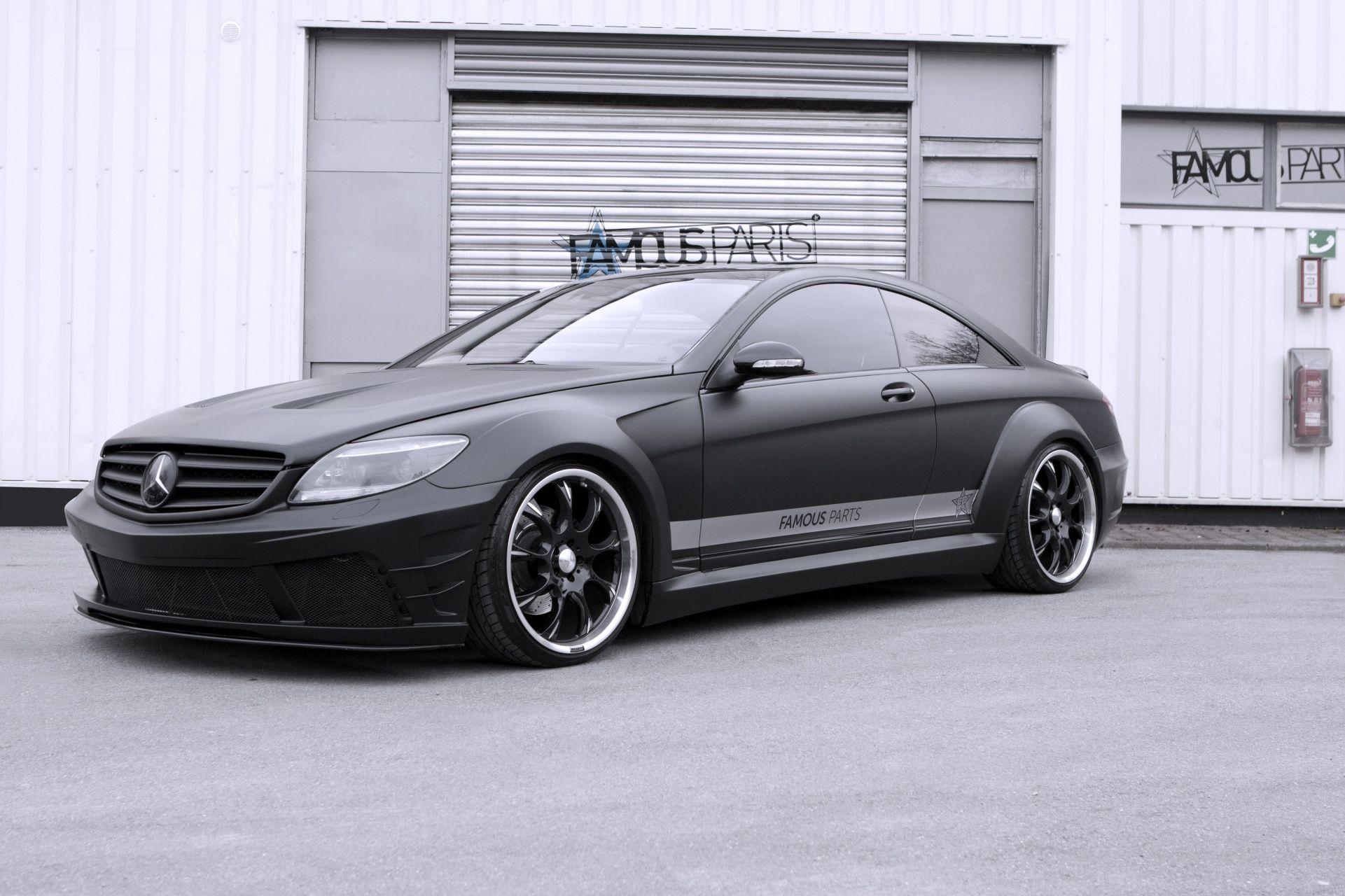 2013 mercedes benz cl 500 black matte edition tuned by. Black Bedroom Furniture Sets. Home Design Ideas