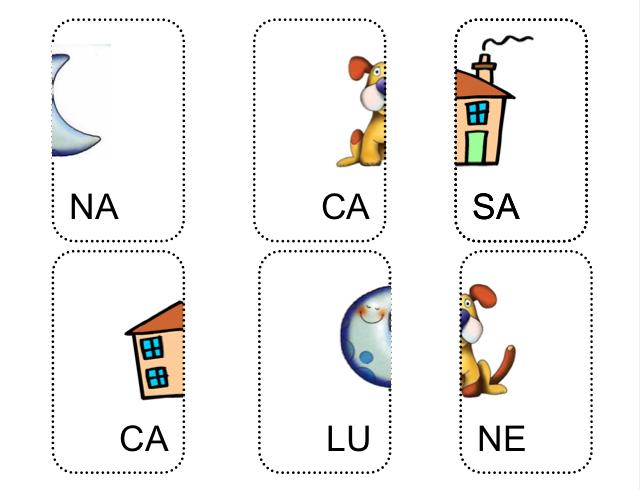 Carte parole bisillabe italiano attivit di for Parole capricciose esercizi
