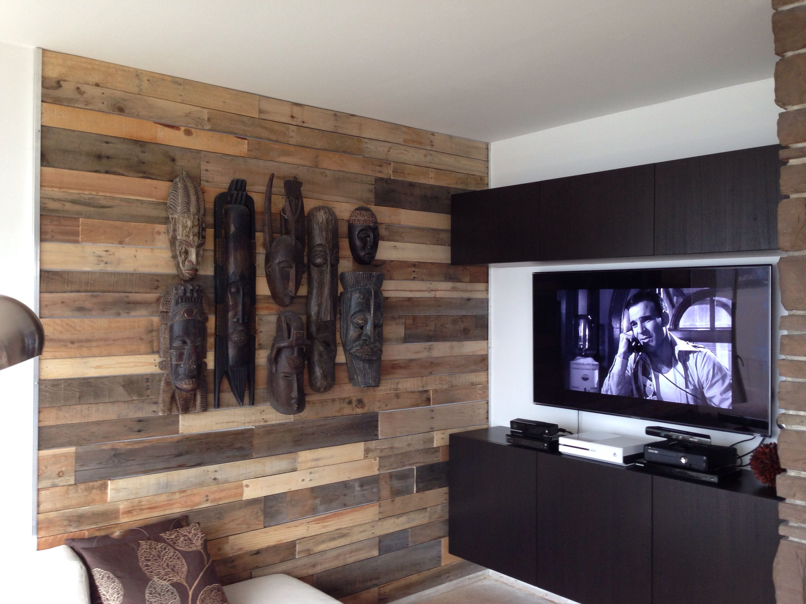 Pallet Wood Wall Section Metal Edges