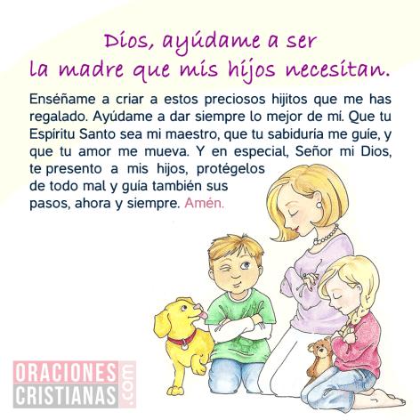 Oración De Una Madre Pidiendo Ayuda En La Crianza De Los