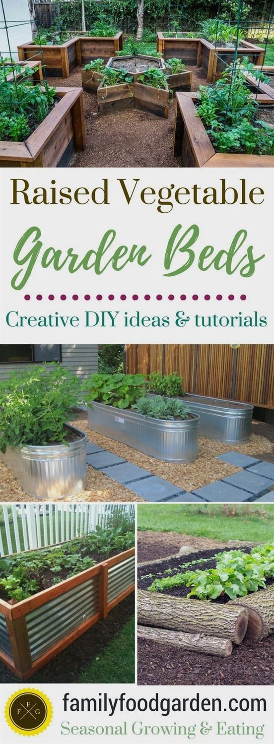 Lots of diy raised garden bed ideas and tutorials so you can design
