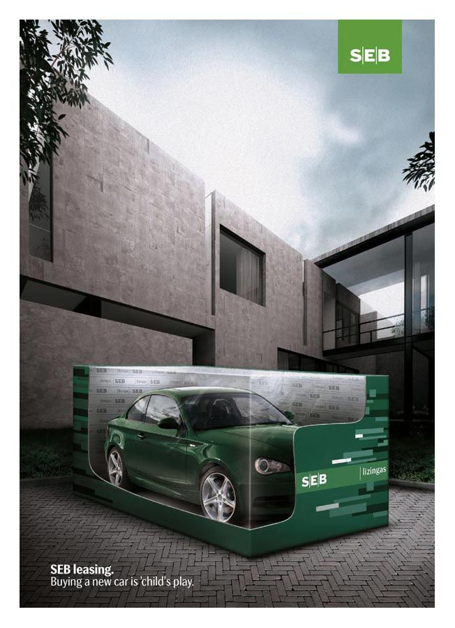 Seb Bank Leasing Ad Ads Ads Creative Car Advertising Print