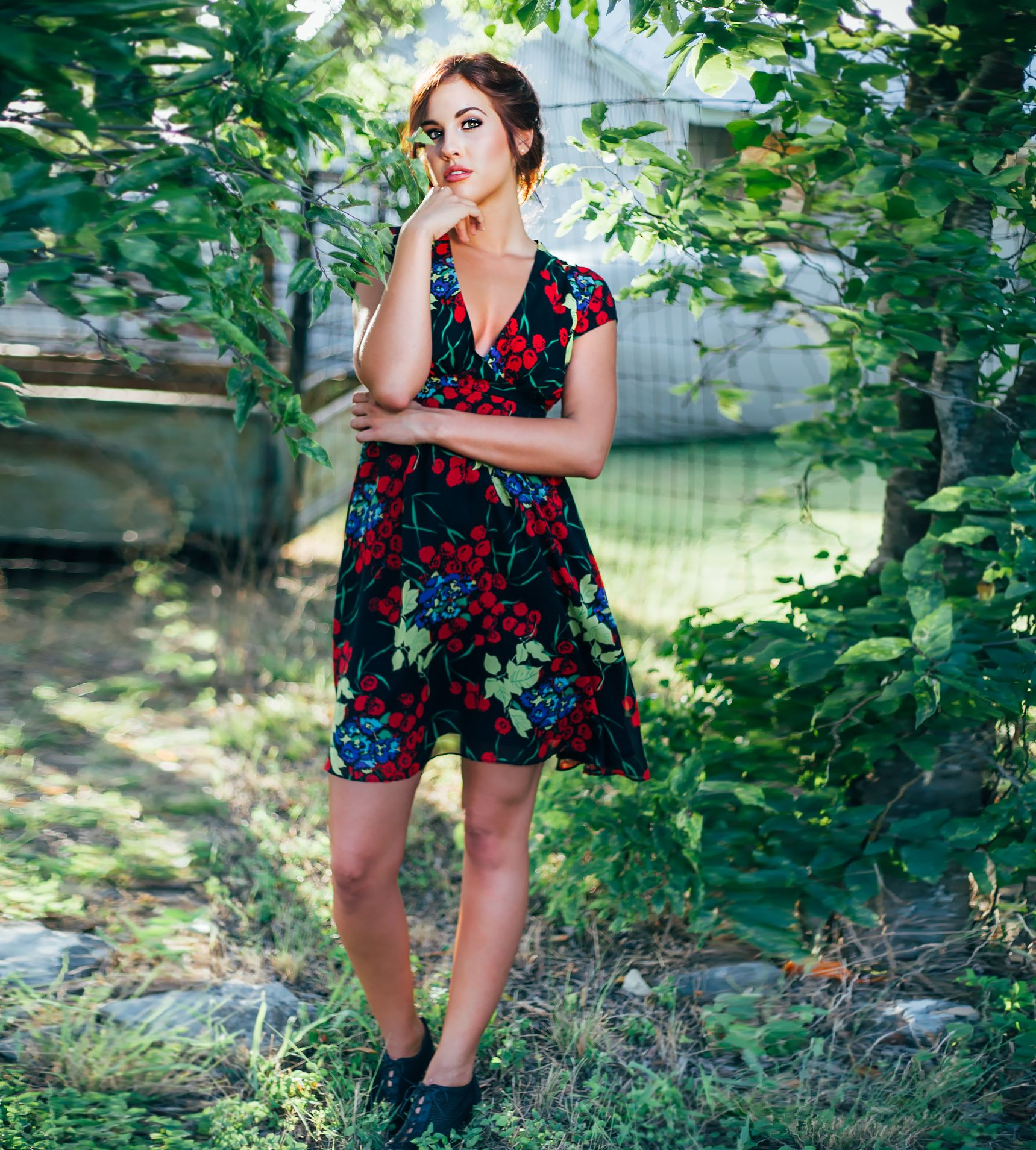 The Harlow Silk Floral Print Dress by FancyFox on Scoutmob