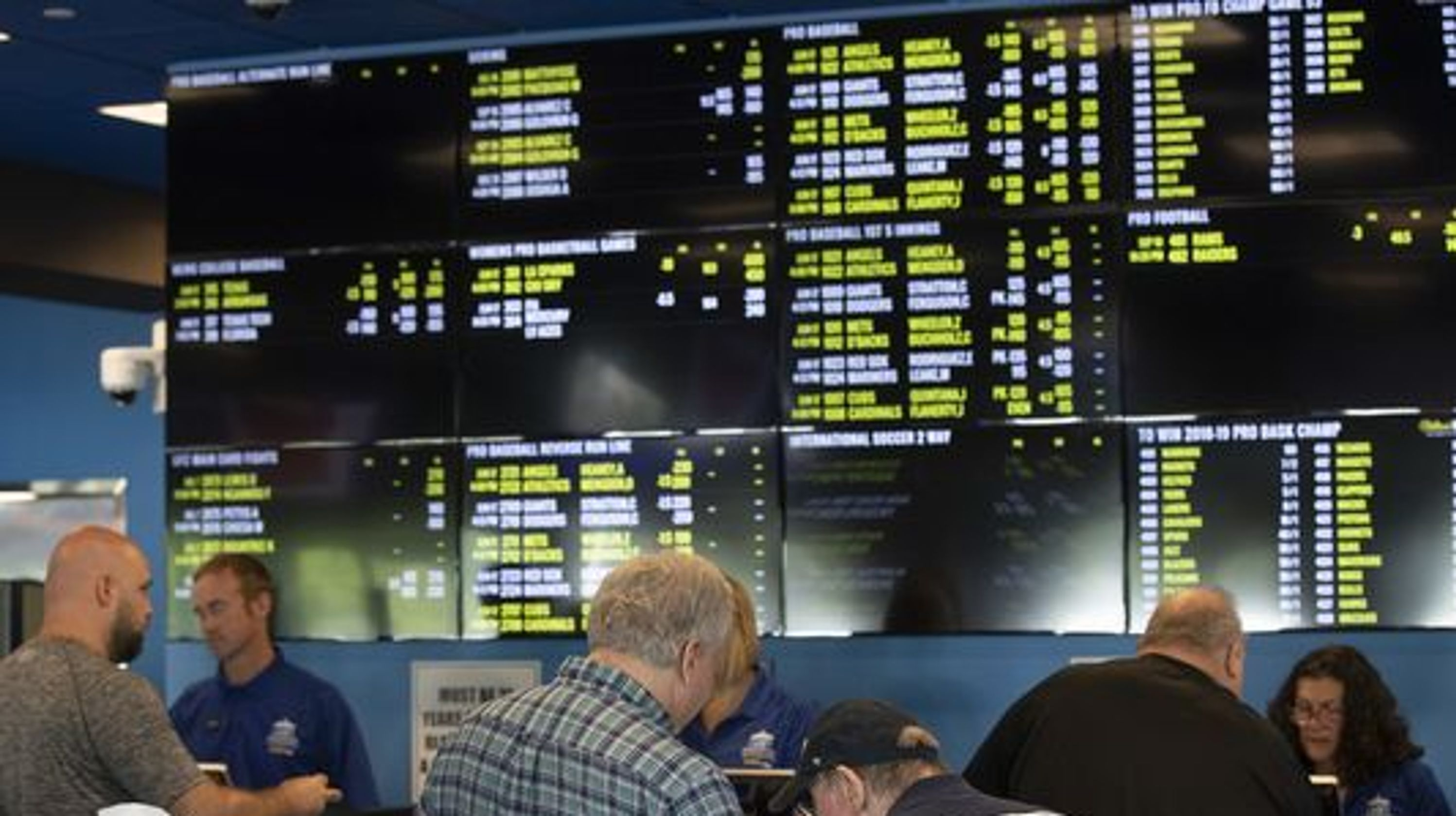 NJ sports betting Handle, revenues flatten as Super Bowl