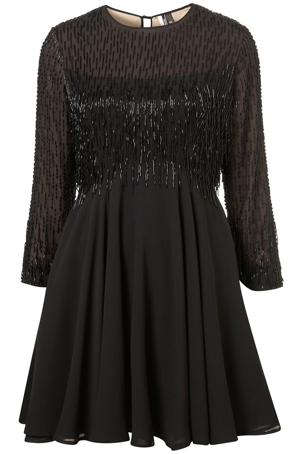 BEADED FRINGE FLIPPY DRESS from TOPSHOP | Closets & Runways | Pinterest