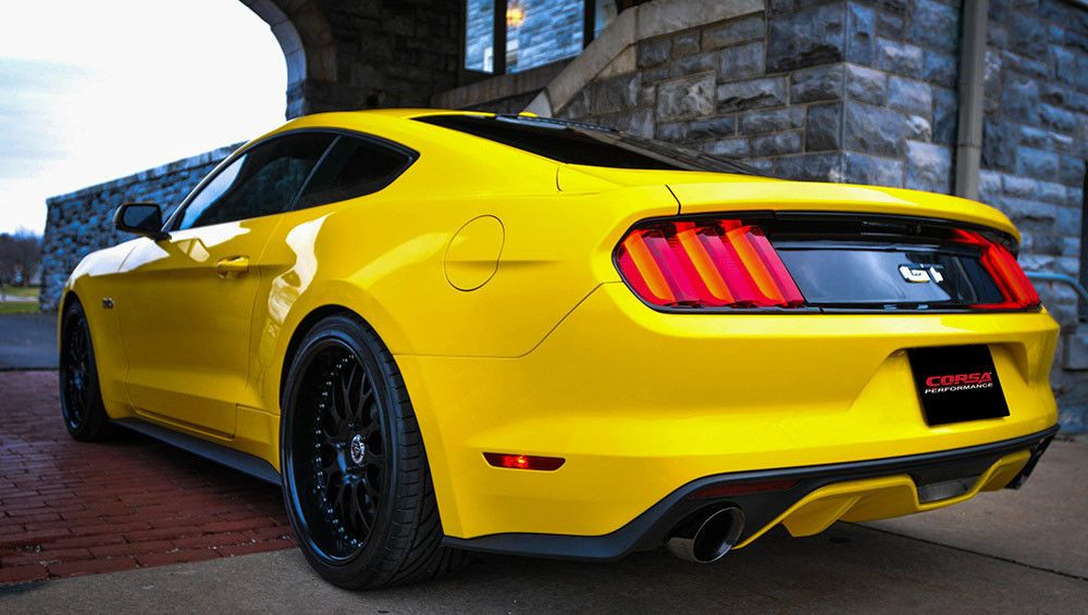 Corsa Xtreme Cat Back Exhaust 2015 2017 Mustang GT 5 0L Coupe