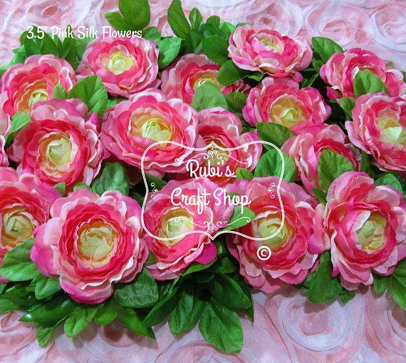 Pink 35 silk flowers set of 2 diy artificial flowers hair clip pink 35 silk flowers set of 2 diy artificial flowers hair clip hair accessorie craft supplies bridal accessorie headband gift mightylinksfo