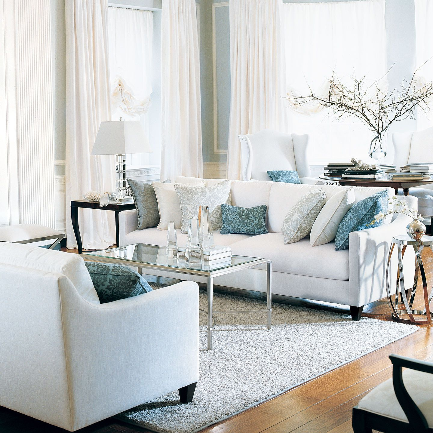 Monterey two cushion sofas and loveseat ethan allen us - Ethan allen living room inspiration ...
