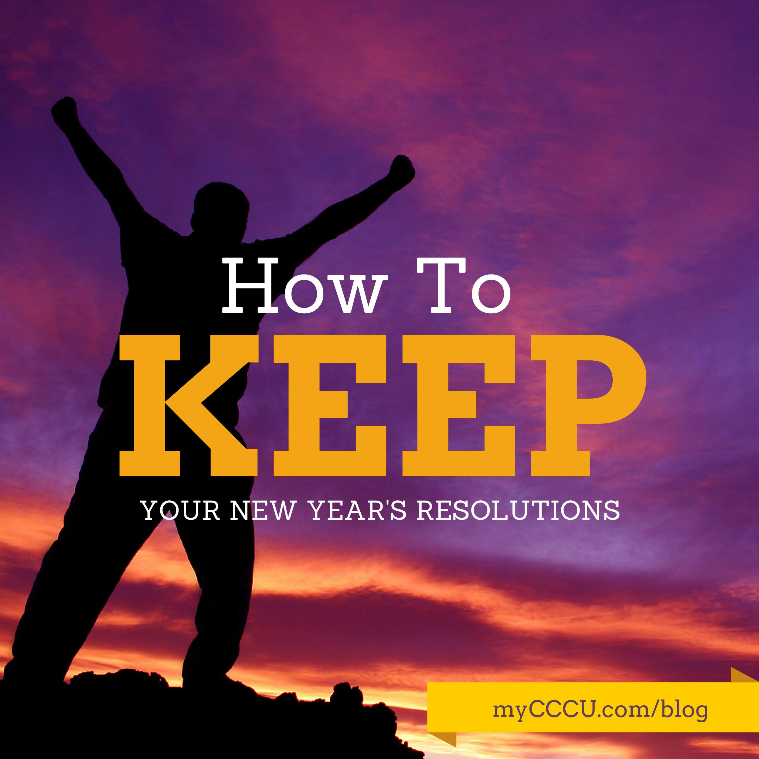 Struggling with your New Year's resolutions? Want to know how you can keep them?