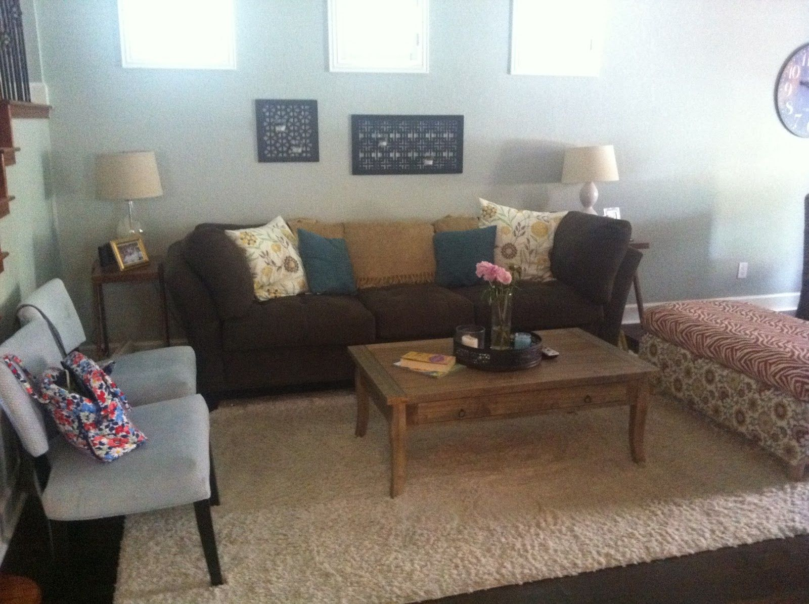 Awesome Yellow Gray Brown Living Room | Living Room Make-Over ...