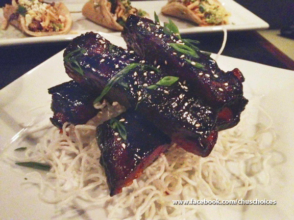 Guy Fiere's Tex Wasabi's Shogun Ribs. These flavorful, slightly spicy, sticky and sweet tender pork ribs are addicting!        http://on.fb.me/ChusChoices_ShogunRibs