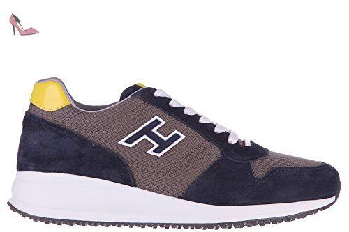 Hogan chaussures baskets sneakers homme en daim interactive n20 h flock blu  EU 43.5 HXM2460Q260BZM343Q -