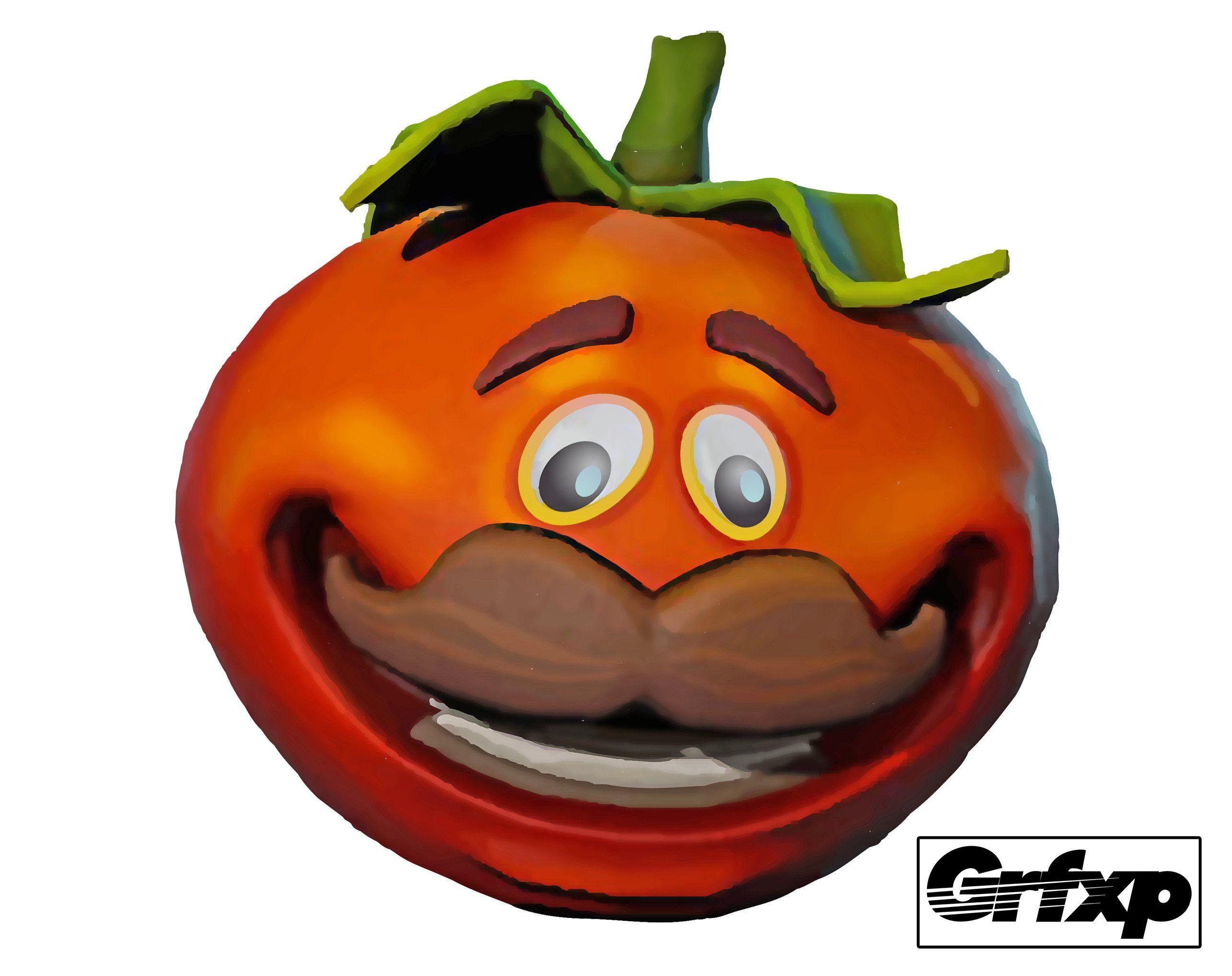 Fortnite head. Tomato man printed sticker