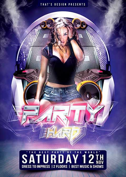 Free party flyer psd template pinuts pinterest party flyer free party flyer psd template maxwellsz