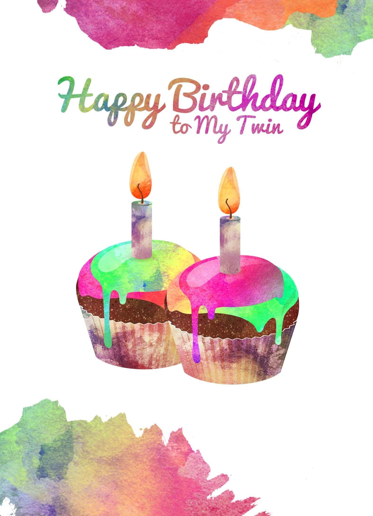 27 Marvelous Picture Of Happy Birthday Twins Cake Geburtstag