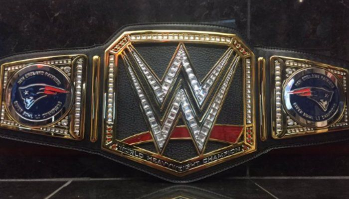 Triple H Shows Off WWE Title Belt For The New England Patriots - copy coloring pages wwe belts