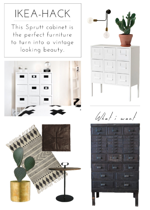 IKEA HACK How To Turn Sprutt Cabinet Into A Vintage Looking One