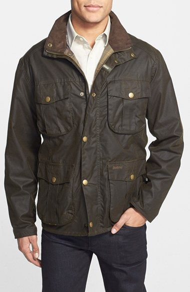 barbour waxed canvas jacket