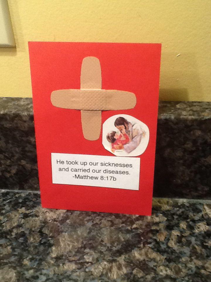 Jesus healing the sick easy sunday school craft band aid for Easy sunday school crafts