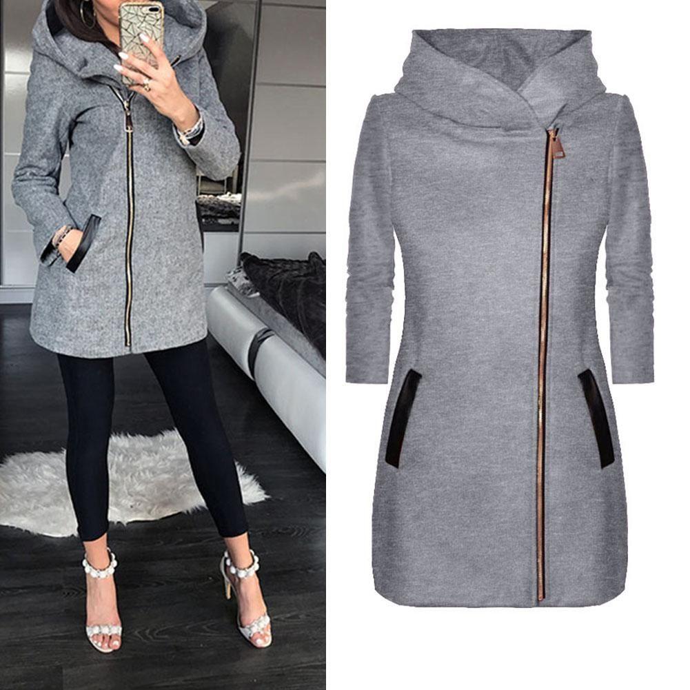 Autumn Winter Plus Size Fashion Women Coat Solid Womens Spring Jackets Winter Jackets Women Hooded Jacket Sweatshirts [ 1001 x 1001 Pixel ]