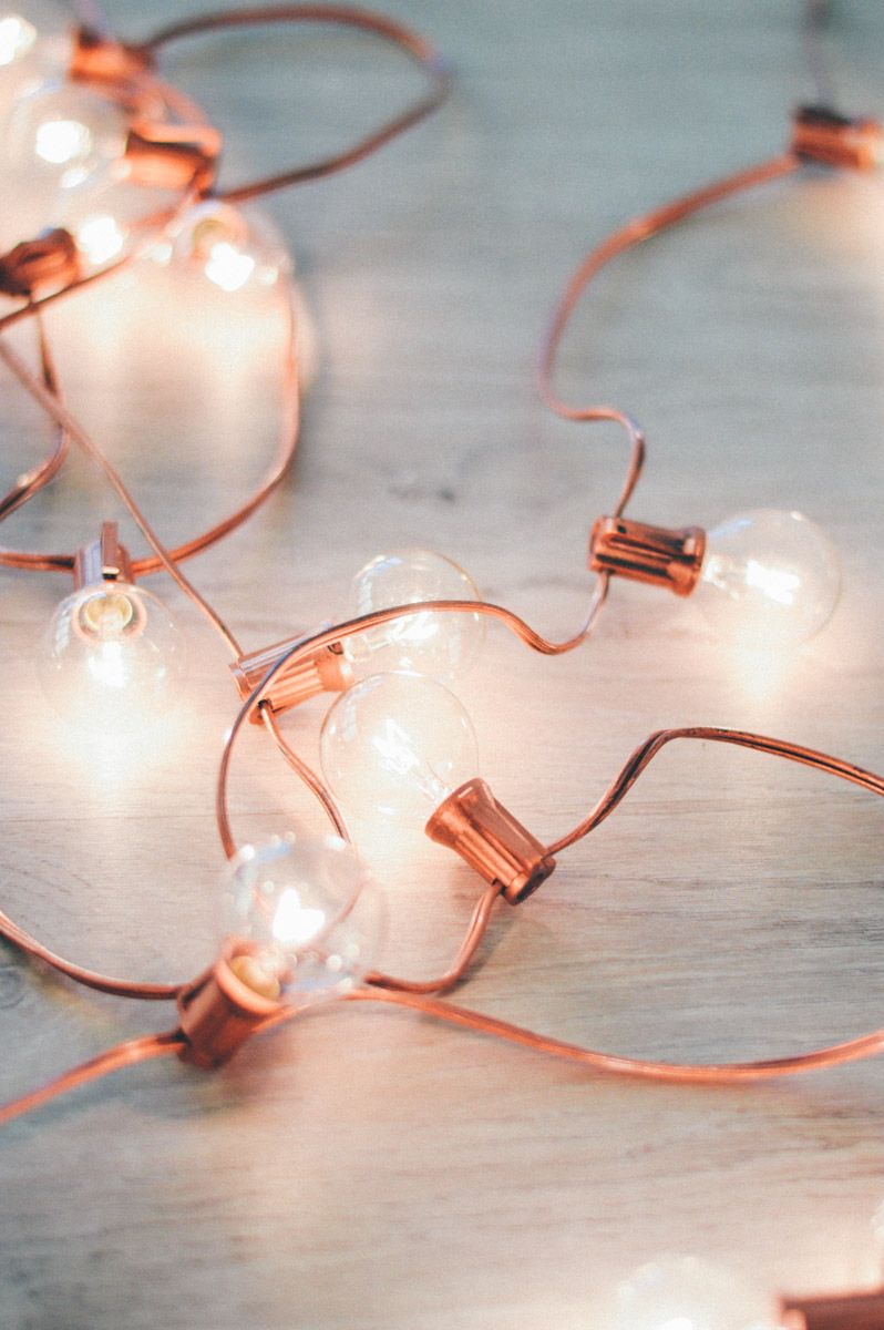 Diy Rose Gold Holiday Lights Rose Gold Rooms Rose Gold Decor Rose Gold Holiday