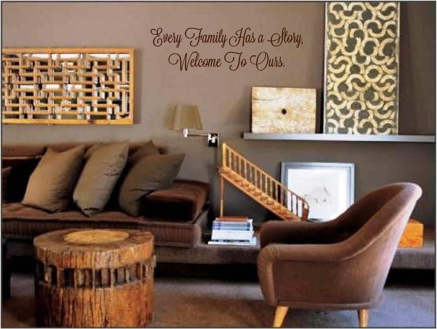 Every family has a story welcome to ours vinyl wall art decal