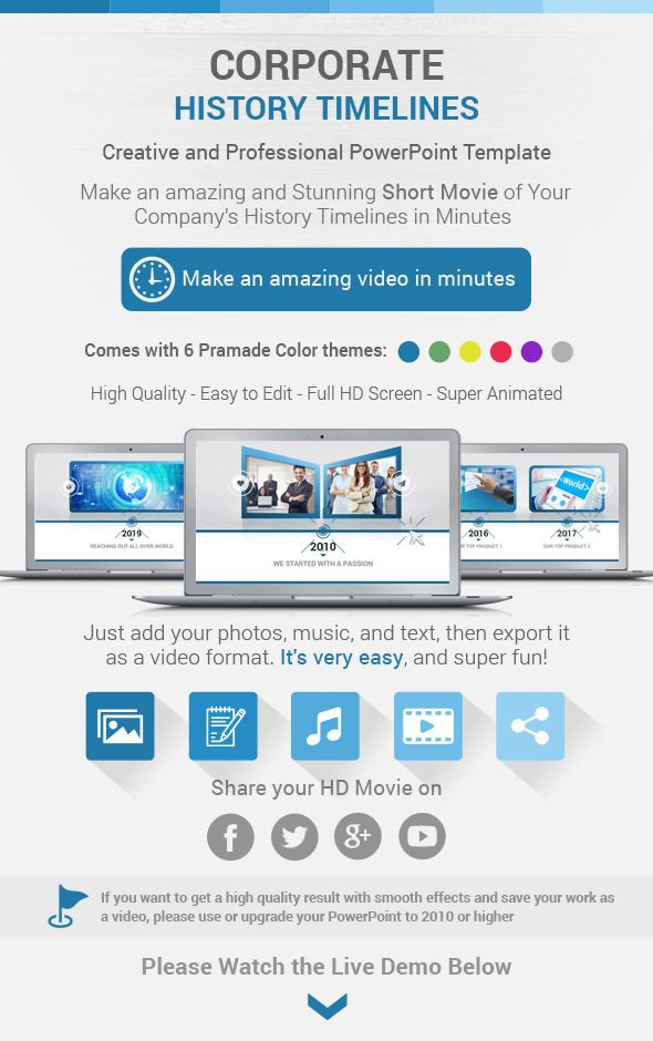 corporate history timelines powerpoint template | powerpoint, Modern powerpoint