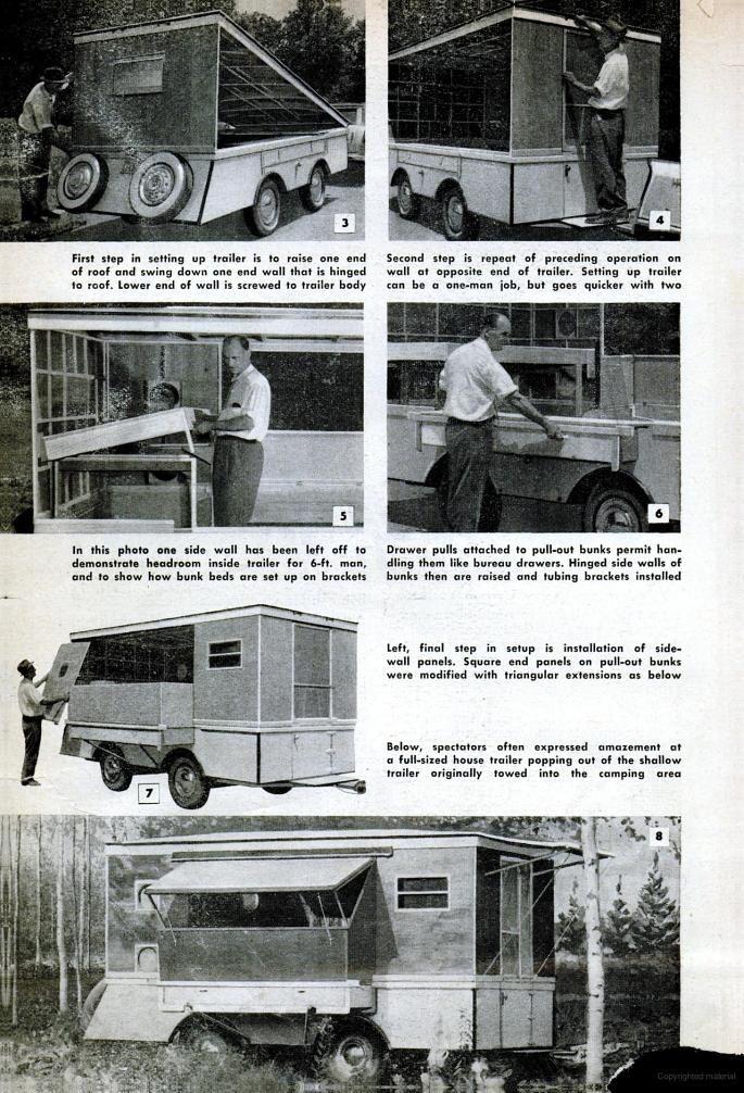 1958 Popular Mechanics on Google Books, pop-up camper