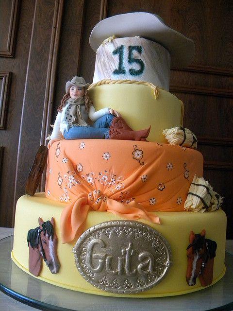Cowgirl Cake by A de Açúcar Bolos Artísticos, via Flickr
