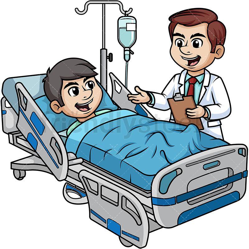 Doctor Talking To Male Patient Dibujos, Dibujos de