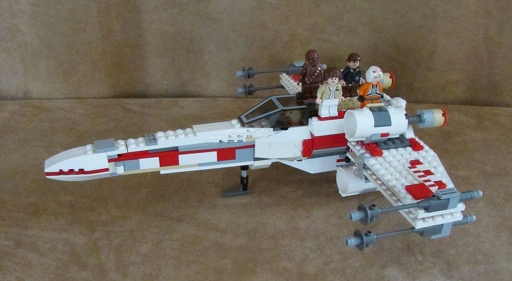 6212 Lego Complete Star Wars X-Wing Fighter instructions minifig ...