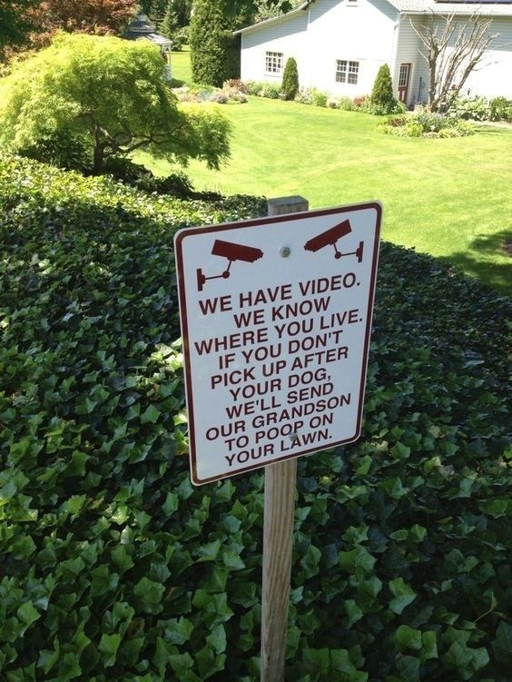 """15 Funny """"Clean After Your Dog"""" Signs Funny note, Funny"""