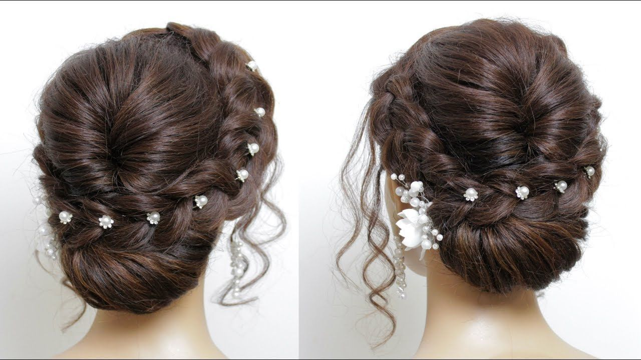 New Easy Bridal Hairstyle For Long Hair Tutorial Simple Wedding Updo Hair Styles Simple Wedding Updo Long Hair Tutorial