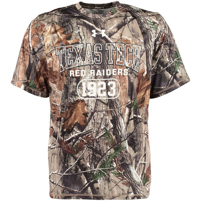 4dbbec898 Texas Tech Red Raiders Under Armour Real Tree Catalyst T-Shirt - Camo