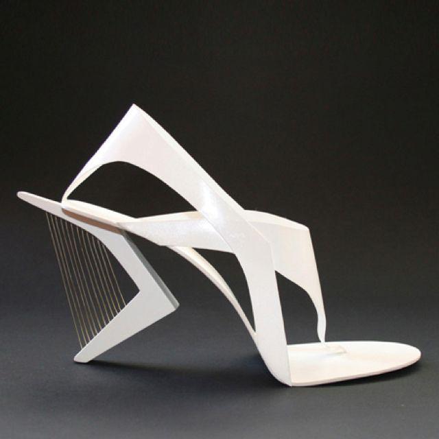 Shoes...reminds me of Zaha Hadid?