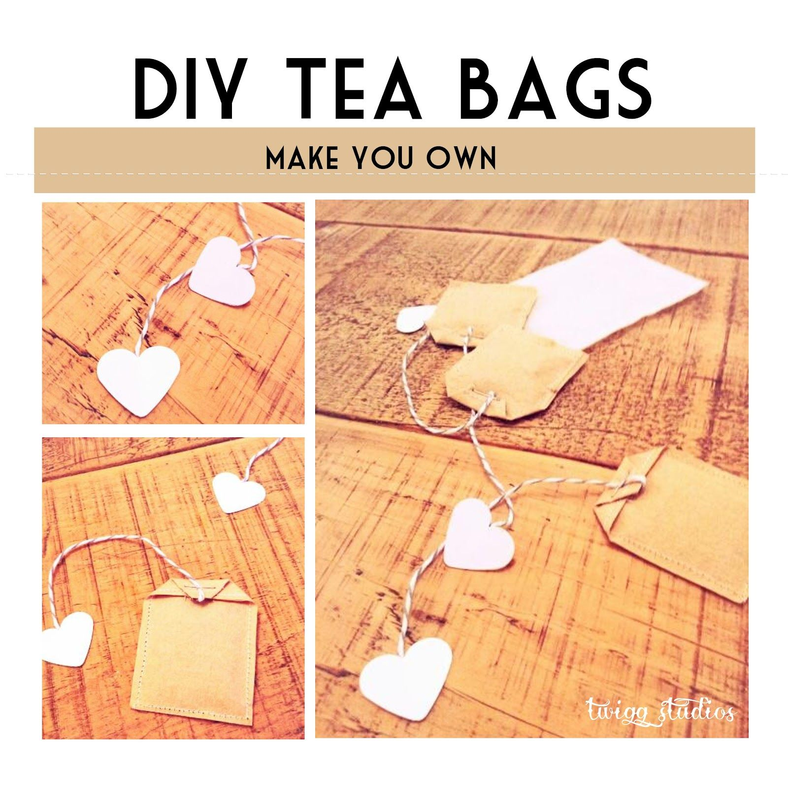 homemade tea bags - nice gift idea - not so practical for everyday use...plus, why not use a tea infuser??