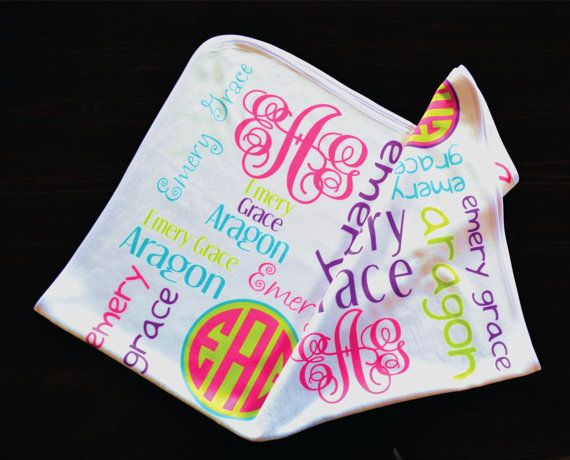 Personalized baby blanket baby name blanket monogram baby blanket personalized baby blanket baby name blanket monogram baby blanket custom baby blankets swaddle blanket receiving blanket baby gifts handmade give t negle Choice Image
