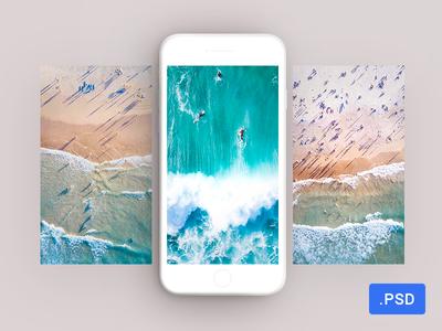 Download Free Minimalistic White Iphone 7 Mockup White Iphone Iphone 7 Iphone