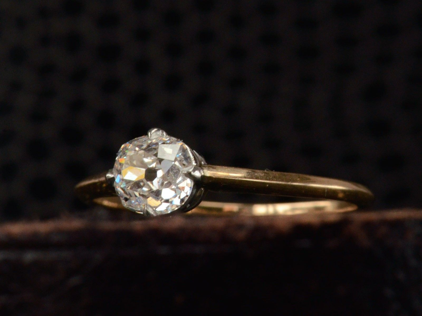art product in antique gold platinum diamond engagement home yellow deco ring rings old cut mine