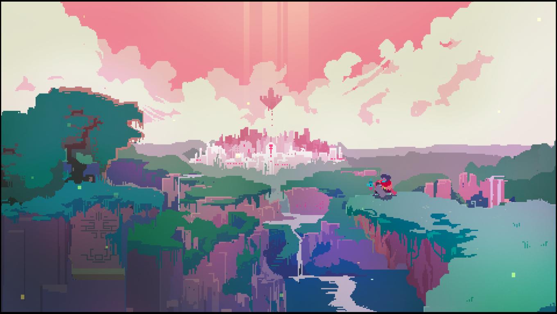 Hyper Light Drifter 1360x768 Pixel Art Landscape Desktop Wallpaper Art Pixel Art
