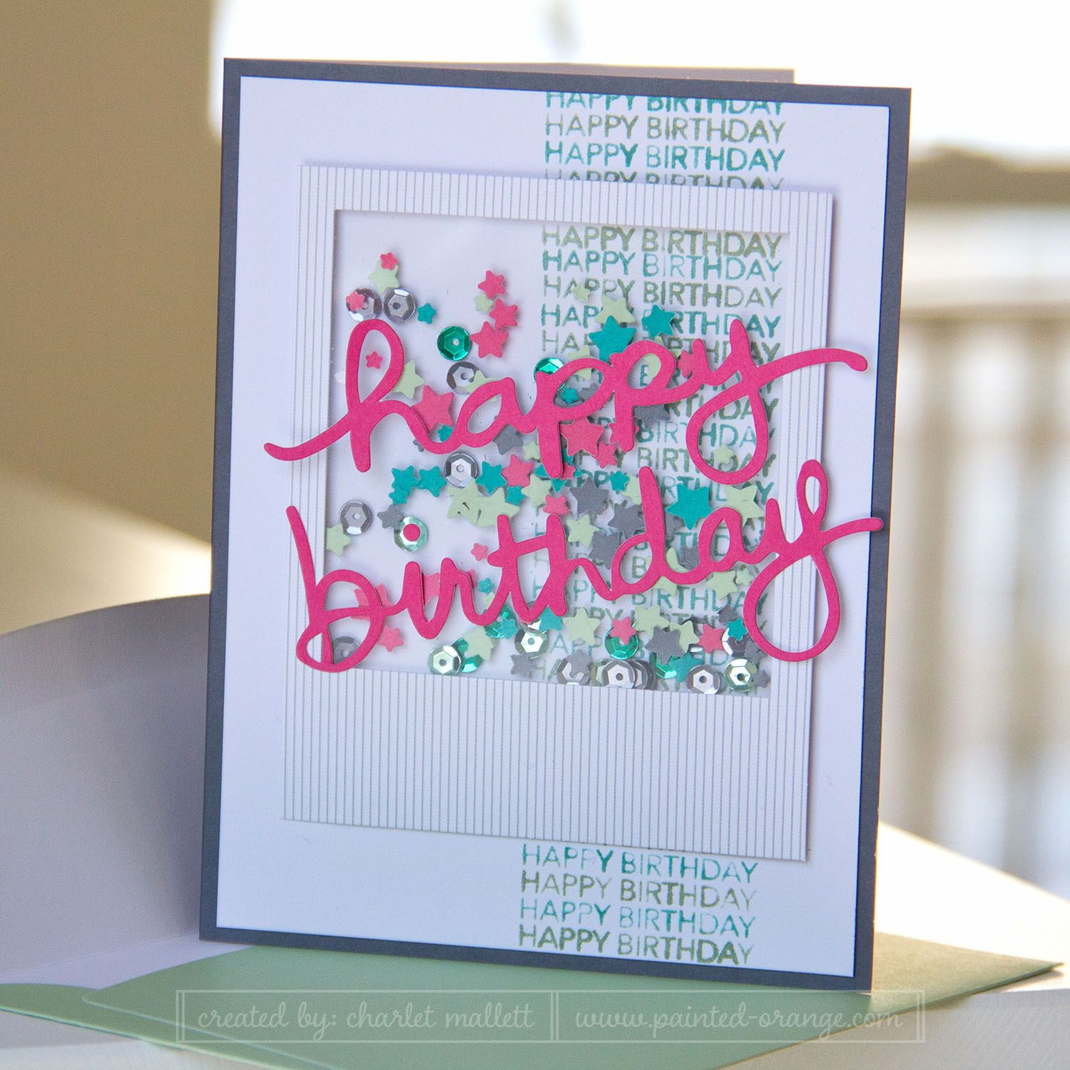 Happy Birthday Altered Card From The All Shook Up Paper Pumpkin