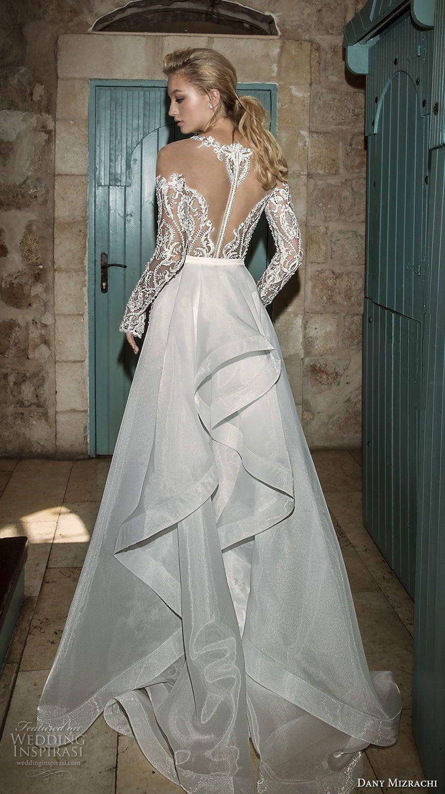 Dany mizrachi spring bridal long sleeves off the shoulder deep