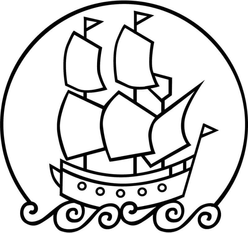 Simple Mayflower Coloring Page See The Category To Find More