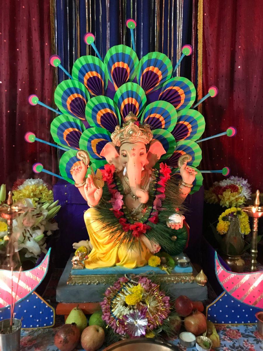 Home Ganpati Bappa Morya 🌺 #ganpatibappa #ganpatifestival #2020