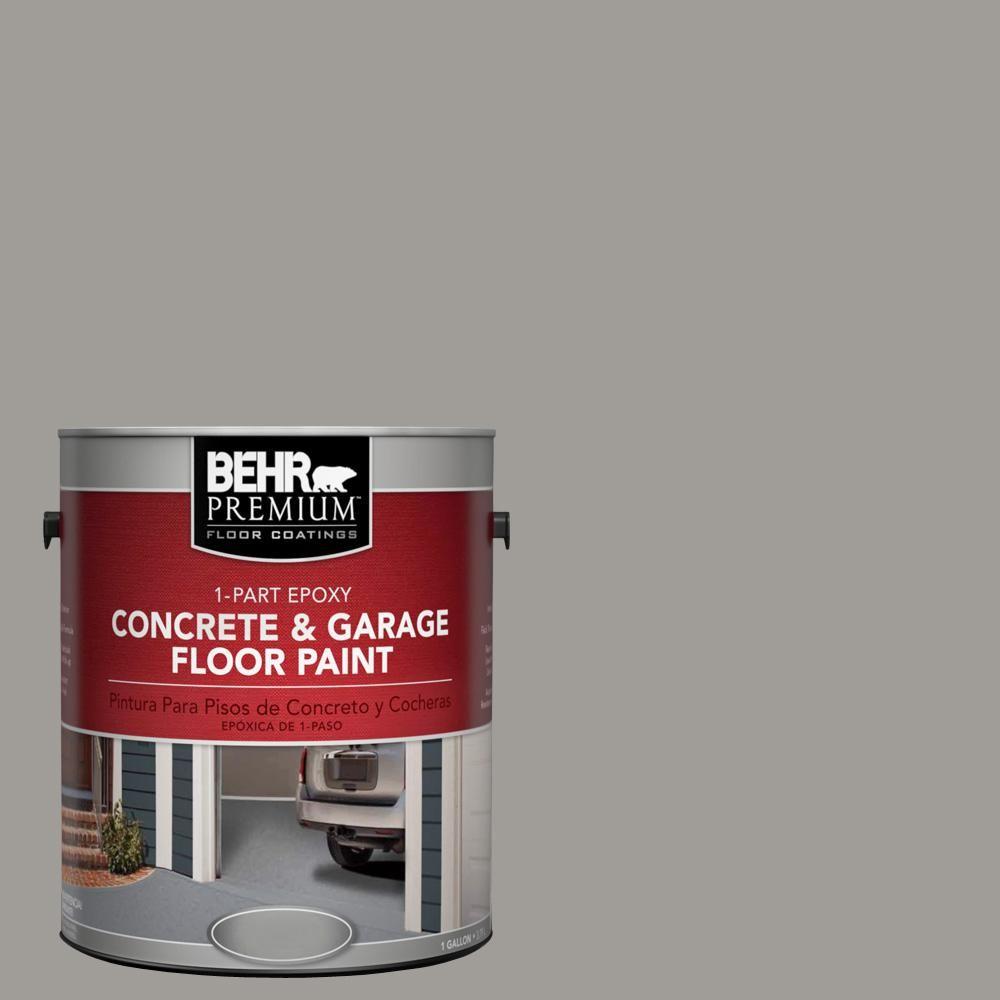Behr Premium 1 Gal Bnc 17 Casual Gray 1 Part Epoxy Satin Interior Exterior Concrete And Garage Floor Paint 90001 Garage Floor Paint Painted Floors Exterior Paint